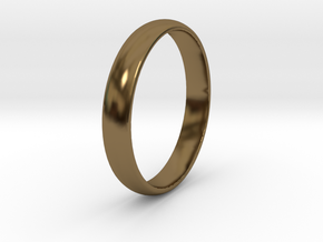 Ring Size 10 1I2 smooth in Polished Bronze