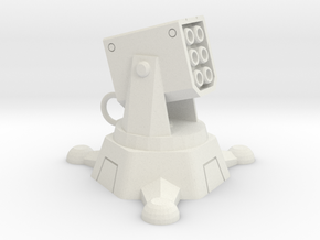 Incendiary Missile Turret in White Natural Versatile Plastic