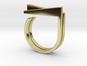 Adjustable ring. Basic set 1. in 18k Gold Plated Brass