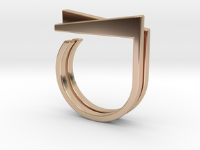 Adjustable ring. Basic set 1. in 14k Rose Gold