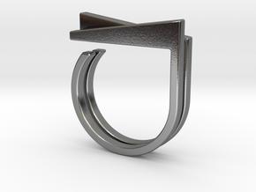 Adjustable ring. Basic set 1. in Polished Silver
