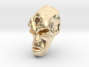 Skull-034 scale in 3cm Passed in 14k Gold Plated Brass