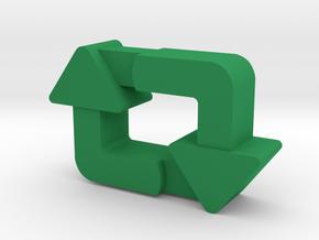 Classy Retweet Pendant in Green Processed Versatile Plastic