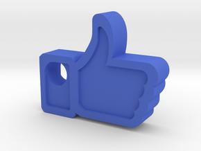 Facebook Like Pendant in Blue Processed Versatile Plastic