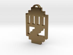 "Journey Pendant- ""Raised Fist"" Symbol in Polished Bronze"