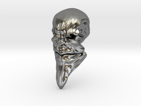 Skull-031 scale in 3cm Passed in Polished Silver