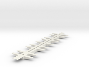 Miscellaneous Freight Car Frame (1/87th) 65'  in White Natural Versatile Plastic