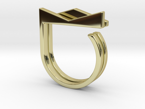 Adjustable ring. Basic set 2. in 18k Gold