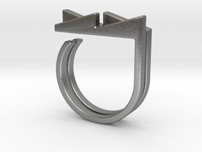 Adjustable ring. Basic set 3. in Natural Silver