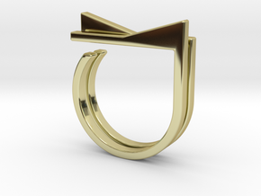 Adjustable ring. Basic set 4. in 18k Gold Plated Brass