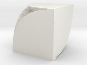 Spiral Box in White Natural Versatile Plastic