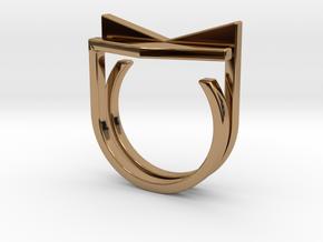 Adjustable ring. Basic set 6. in Polished Brass