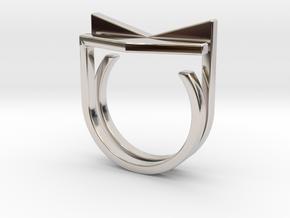 Adjustable ring. Basic set 6. in Rhodium Plated Brass