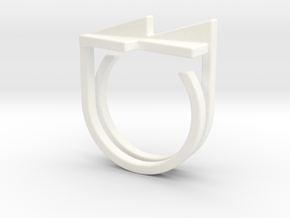 Adjustable ring. Basic set 7. in White Processed Versatile Plastic