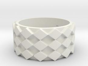 Futuristic Diamond Ring Size 7 in White Natural Versatile Plastic