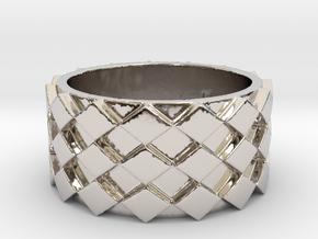 Futuristic Diamond Ring Size 7 in Platinum