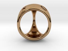 D3 Fudge Shell Dice - Gen 2 in Polished Brass