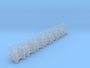 N Scale Stairs 3 (7 pc) in Frosted Ultra Detail