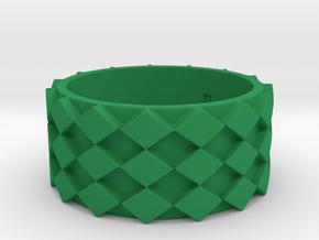 Futuristic Diamond Ring Size 8 in Green Processed Versatile Plastic