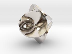 Enneper Earring / Pendant in Rhodium Plated Brass