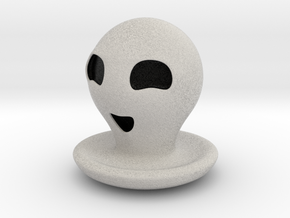 Halloween Character Hollowed Figurine: HappyGhosty in Full Color Sandstone