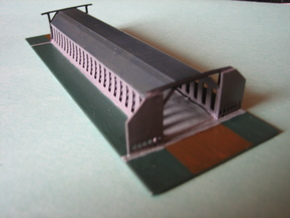 Airship hangar / Luftschiffhalle 1/2400 in Smooth Fine Detail Plastic