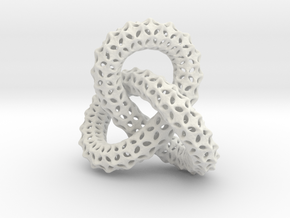 vertebral trefoil pendant in White Natural Versatile Plastic