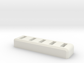 Standard 5xUSB/Flashdrive Holder in White Natural Versatile Plastic