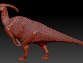 1/40 Parasaurolophus - Standing Hoot in White Natural Versatile Plastic