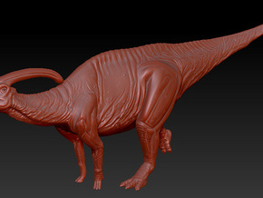 1/72 Parasaurolophus - Hooting in White Strong & Flexible