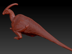 1/40 Parasaurolophus - Prone in White Strong & Flexible