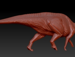1/40 Parasaurolophus - Walking Alternate in White Natural Versatile Plastic