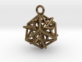 Star-in-Box in Natural Bronze