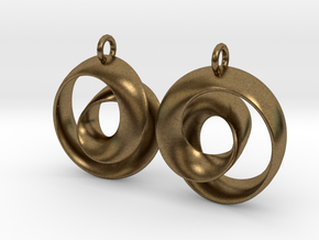 Ear-Rings-01 in Natural Bronze