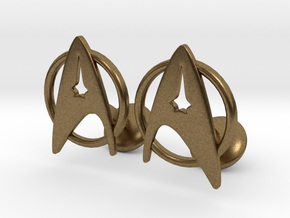 StarTrek Cuffliknks in Natural Bronze