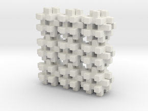Buildblocks Variant 3v5 in White Natural Versatile Plastic
