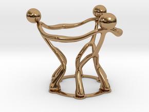 stickman egg cup V2 in Polished Brass