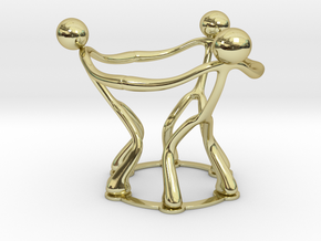 stickman egg cup V2 in 18k Gold Plated Brass