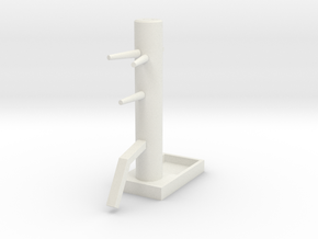 Wooden Dummy04-print in White Strong & Flexible