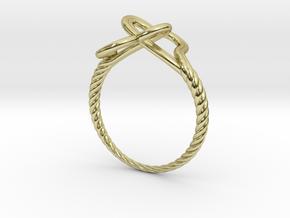 Locked Love Ring in 18k Gold