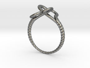 Locked Love Ring in Polished Silver