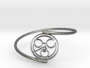John - Bracelet Thin Spiral in Polished Silver