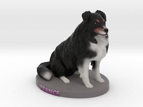 Custom Dog Figurine - Prance in Full Color Sandstone
