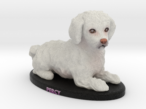Custom Dog Figurine - Percy in Full Color Sandstone
