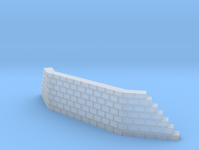 T SCALE DOUBLE TRACK WING WALL in Smoothest Fine Detail Plastic