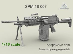 1/18 SPM-18-007 m249 MK48mod0 7,62mm machine gun in Frosted Extreme Detail