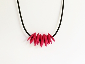 Futuristic Necklace - 60's space age jewelry  in Pink Strong & Flexible Polished