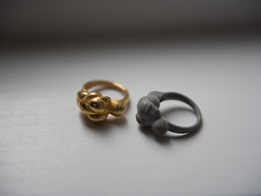 Venus Ring for Hezza - 15mm in Polished Gold Steel
