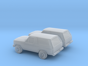 1/160 2X 1984 Ford Bronco in Smooth Fine Detail Plastic