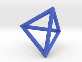 Tetrahedron(Leonardo-style model) in Blue Processed Versatile Plastic